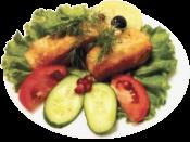 Лосось жареный /  Roast salmon