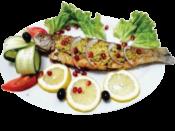 Форель радужная, фаршированная ореховой пастой / Rainbow trout stuffed with walnut paste