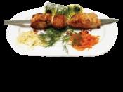 Шашлык из сёмги /  Shish Kebab of salmon
